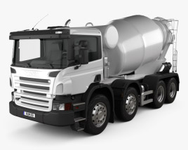 3D model of Scania P Mixer 2011