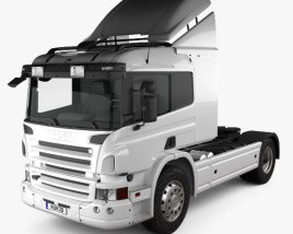 3D model of Scania P Tractor Truck 2011