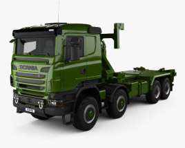 3D model of Scania R 480 Military Tractor Truck 2010