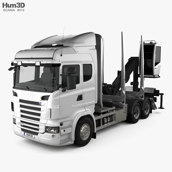 3D model of Scania R 730 Timber Truck 2010