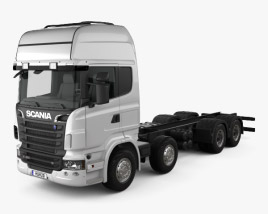 3D model of Scania R 490 Chassis Truck 2011
