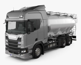 3D model of Scania R 730 Tanker Truck 2017