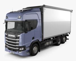 3D model of Scania R500 Highline Box Truck 2016