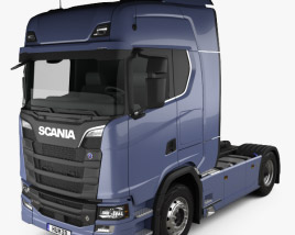3D model of Scania S 730 Highline Tractor Truck 2-axle 2016