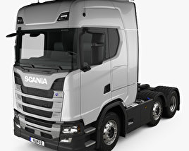 3D model of Scania R450 Highline Tractor Truck 3-axle 2017