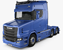3D model of Scania S730 T Tractor Truck 2017