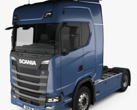 3D model of Scania R Highline Tractor Truck 2-axle 2016
