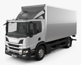 3D model of Scania P Box Truck 2017