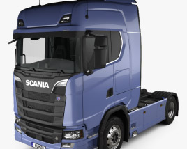 3D model of Scania S Highline Tractor Truck 2-axle with HQ interior 2016