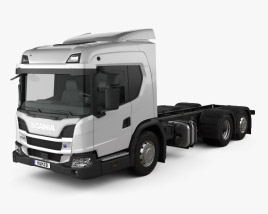 3D model of Scania L Chassis Truck 2018