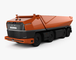 3D model of Scania AXL Dump Truck 2019
