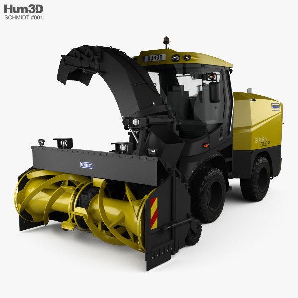 Schmidt Supra 5002 Snow Cutter Blower 2018 3D model