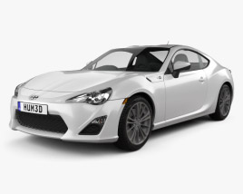 3D model of Scion FR-S 2013