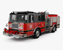 3D model of Seagrave Marauder II Fire Truck 2014