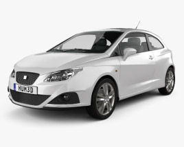 3D model of Seat Ibiza Sport Coupe 3-door 2011