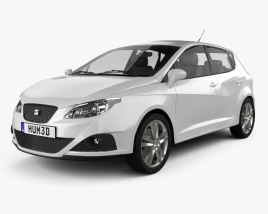 3D model of Seat Ibiza hatchback 5-door 2011