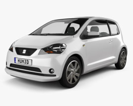 3D model of Seat Mii 3-door 2013
