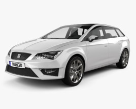 3D model of Seat Leon wagon 2013