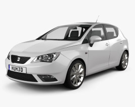 3D model of Seat Ibiza 5-door hatchback 2013