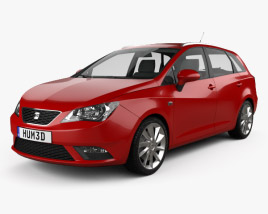 3D model of Seat Ibiza ST 2013