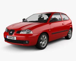 3D model of Seat Ibiza 3-door 2002