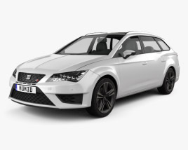 3D model of Seat Leon ST Cupra 280 2015