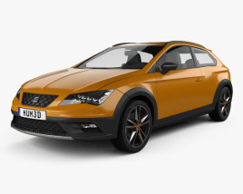 3D model of Seat Leon Cross Sport 2015
