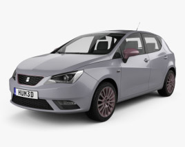3D model of Seat Ibiza 5-door hatchback 2015