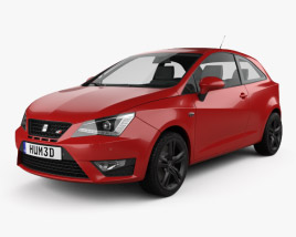 3D model of Seat Ibiza Cupra 2016