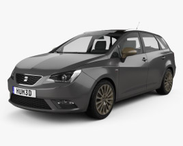 3D model of Seat Ibiza ST 2015