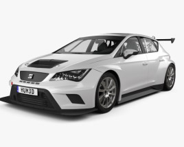 3D model of Seat Leon Cup Racer 2014