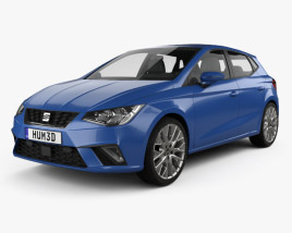 3D model of Seat Ibiza Style 2017