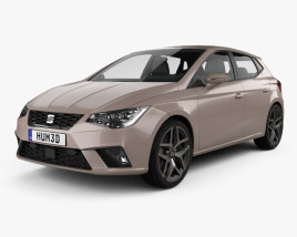 3D model of Seat Ibiza Xcellence 2017