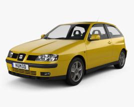 3D model of Seat Ibiza 3-door 1999