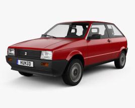 3D model of Seat Ibiza 3-door 1984