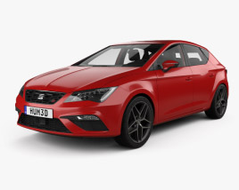 3D model of Seat Leon FR with HQ interior 2016