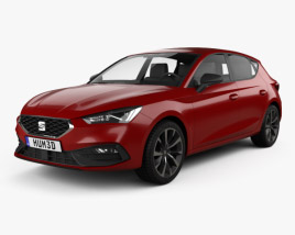 3D model of Seat Leon FR 5-door hatchback 2020