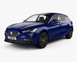 3D model of Seat Leon Xcellence 5-door hatchback 2020