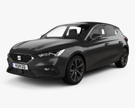 3D model of Seat Leon FR eHybrid 5-door hatchback 2020