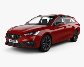 3D model of Seat Leon FR sportstourer 2020