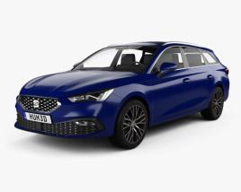 3D model of Seat Leon sportstourer Xcellence 2020