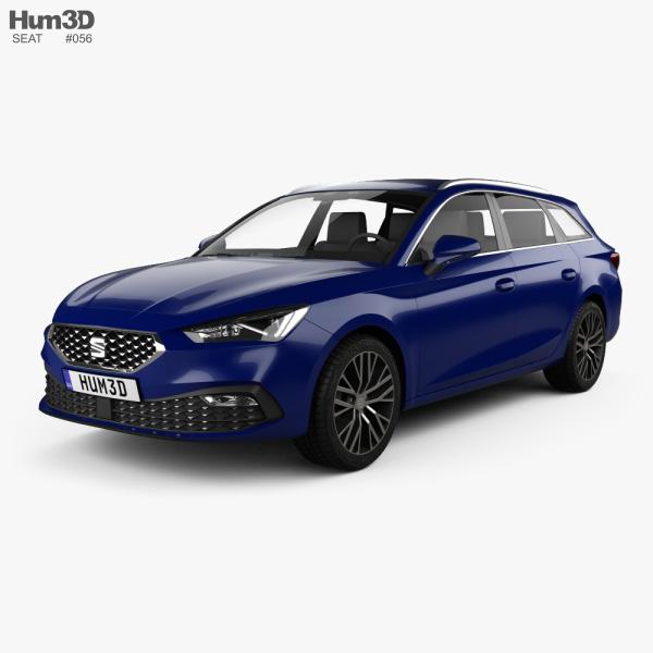 Seat Leon sportstourer Xcellence 2020 3D model