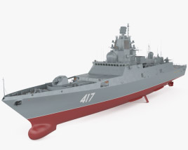 3D model of Admiral Gorshkov-class frigate