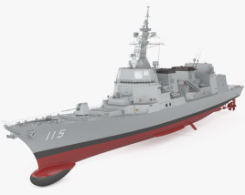 3D model of Akizuki-class destroyer