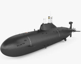 3D model of Akula-class submarine