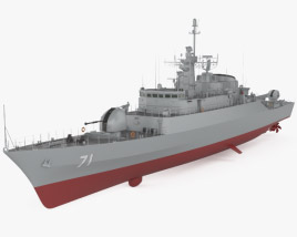 3D model of Alvand-class frigate