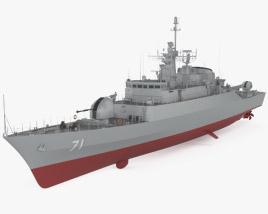 Alvand-class frigate 3D model