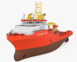 3D model of Anchor handling tug supply vessel