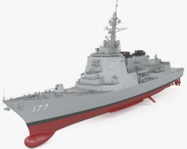 3D model of Atago-class destroyer
