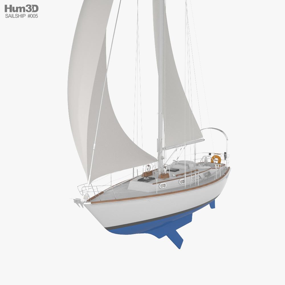 BRISTOL 35.5 Sailboat 3D model